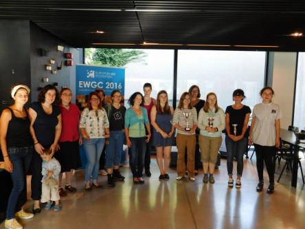 Photo de groupe au championnat d'Europe féminin