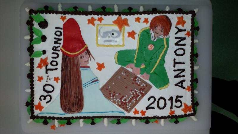 Antony 2015 Dessus du gâteau